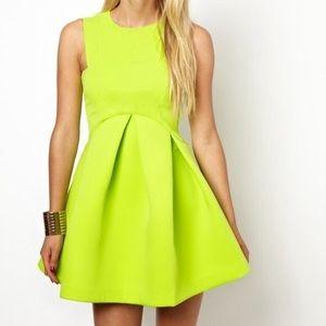 ASOS Lime green summer dress